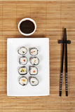 Sushi and soy sauce Stock Image