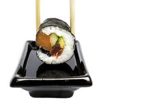 Sushi and soya Royalty Free Stock Images