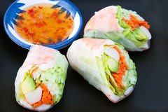Sushi Spring Rolls Stock Photo