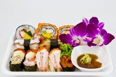 Sushi stellten mit wasabi ein Stockfotos