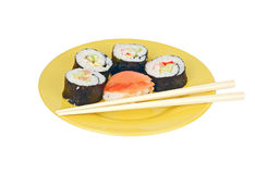Sushi and stick Stock Photography