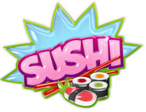 Sushi sticker Stock Photos