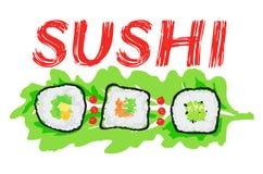 Sushi sticker Stock Image