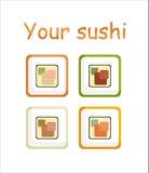 Sushi stylisés Image stock