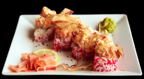 Sushi sulla zolla bianca Immagine Stock Libera da Diritti