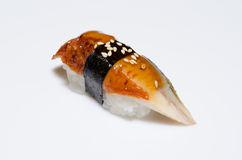 Sushi sur le blanc Photos stock