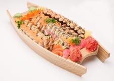 Sushi sur un fond blanc Images libres de droits