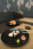 Sushi in sushi bar Royalty Free Stock Images