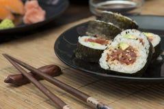 Sushi in sushi bar Royalty Free Stock Photos
