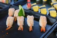Sushi and sushi rolls Royalty Free Stock Photo