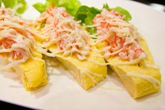 Sushi sweet egg Stock Image