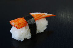 Sushi  on table black background Stock Images