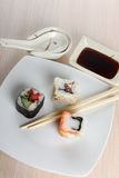 Sushi on table Stock Images