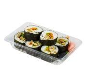 Sushi in takeaway box Stock Image