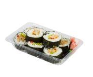 Sushi in takeaway box Royalty Free Stock Photo