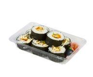 Sushi in takeaway box Stock Photo