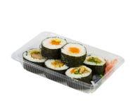 Sushi in takeaway box Royalty Free Stock Image
