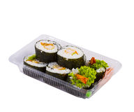 Sushi in takeaway box Stock Photography