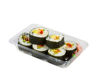 Sushi in takeaway box Royalty Free Stock Photography
