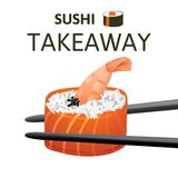 Sushi takeaway Royalty Free Stock Photography