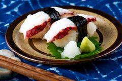 Sushi tako Japanese octopus slice. royalty free stock photos