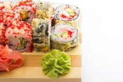 Sushi tempura roll Royalty Free Stock Images