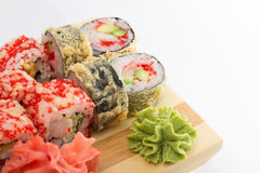 Sushi tempura roll Royalty Free Stock Photos