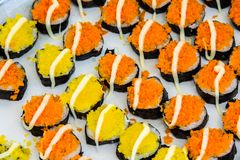 Sushi in a thai market Royalty Free Stock Image