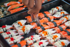Sushi in the Thai market Stock Photography