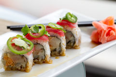 Sushi-Thunfisch-Rolle Stockfoto