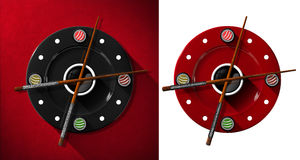 Sushi Time Concept - Clock Stock Photo