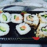 Sushi time. Yummy yummy eat royalty free stock image