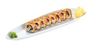 Sushi Tori Kunsei Yasai plate - isolated on white Stock Images