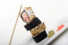 Sushi tower Stock Images