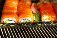 Sushi, traditional japanese food Royalty Free Stock Images