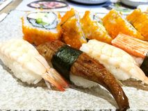 Sushi. The traditional Japanese food Royalty Free Stock Photography