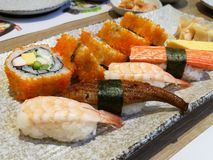 Sushi. The traditional Japanese food Royalty Free Stock Photo