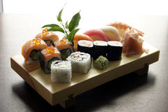 Sushi traditional Japanese food. Sushi, Japanese food, traditional dish of japanese kitchen Stock Photography