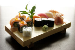 Sushi traditional Japanese food. Sushi, Japanese food, traditional dish of japanese kitchen Royalty Free Stock Image