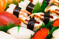 Sushi , traditional japanese food Royalty Free Stock Photos