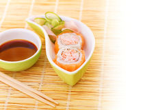 Sushi with traditional serving Stock Images