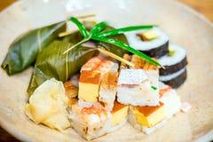Sushi traditionnels de style de Kyoto Photographie stock