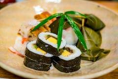 Sushi traditionnels de style de Kyoto Images stock