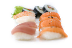 Sushi on a tray Royalty Free Stock Image