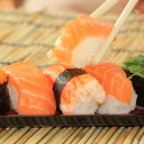 Sushi in the tray Royalty Free Stock Images