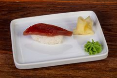 Sushi with tuna. Japanese traditional Sushi with tuna stock image