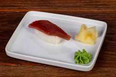 Sushi with tuna. Japanese traditional Sushi with tuna stock images