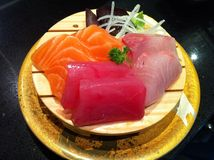 Sushi Tuna Salmon japan food Stock Photo