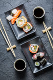 Sushi for two served Stock Images