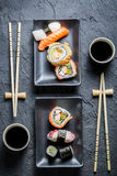 Sushi for two served Royalty Free Stock Image
